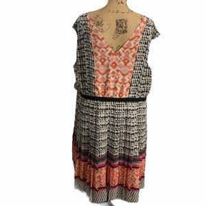 Halogen Plus Size Colorful Pleated Dress